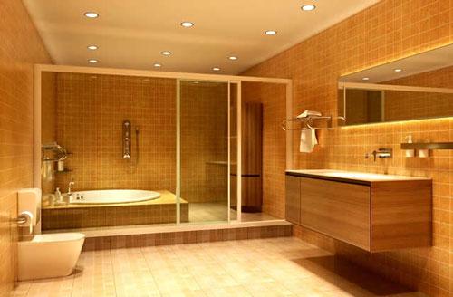 Точечный свет в ванной комнате