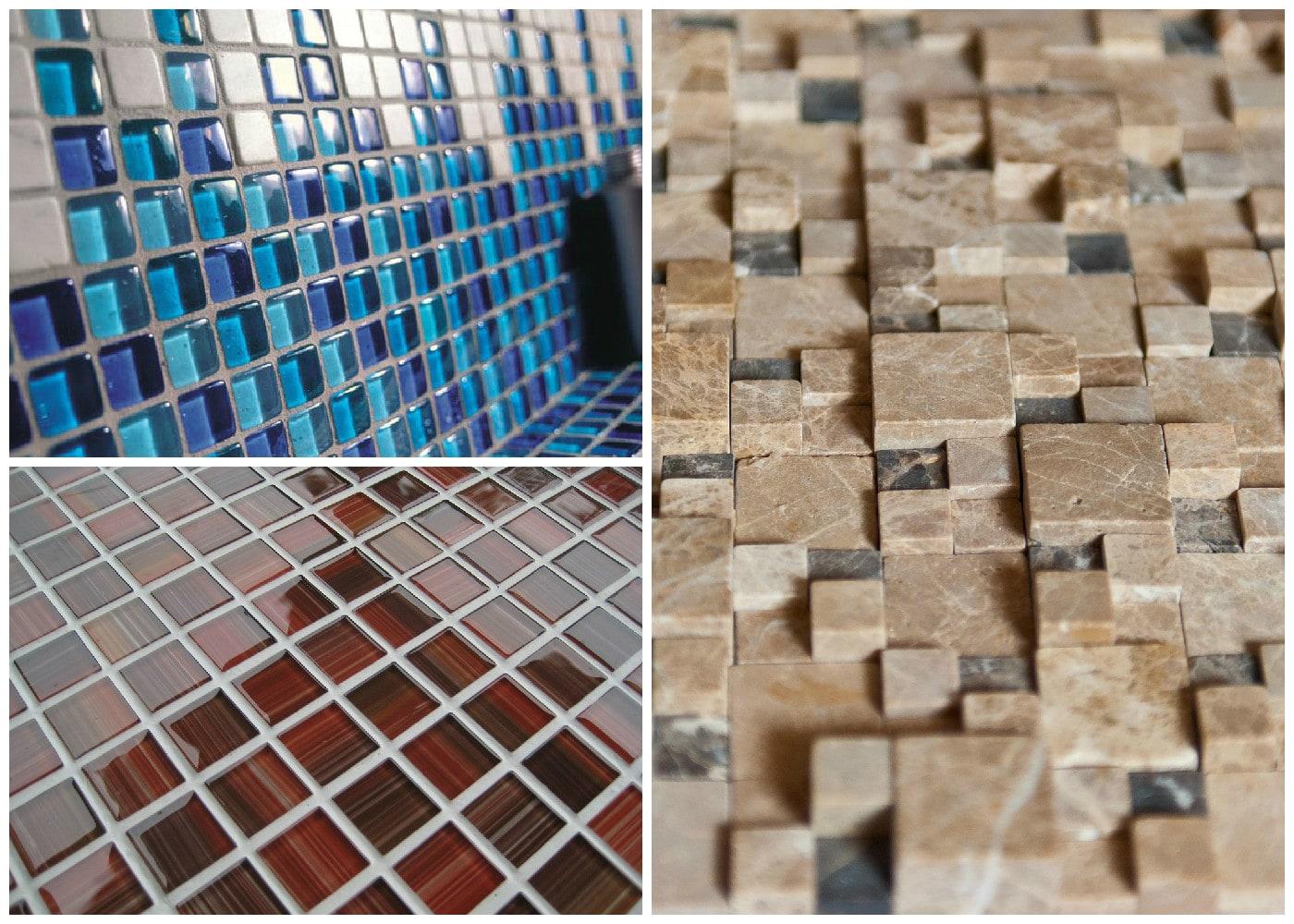Виды плитки мозаики