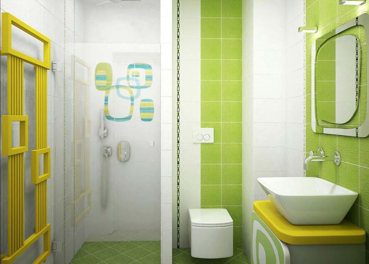 Яркие акценты в ванной