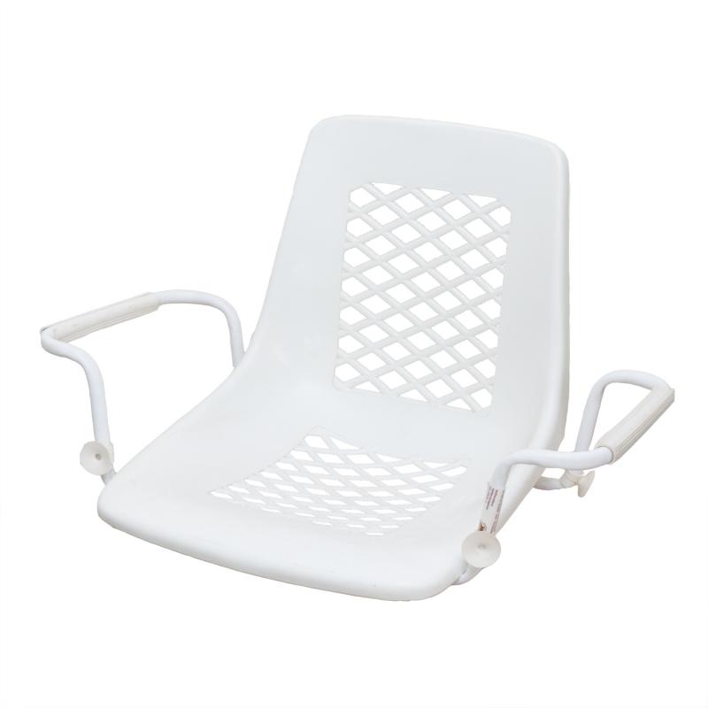 Белое сиденье для купания пенсионеров