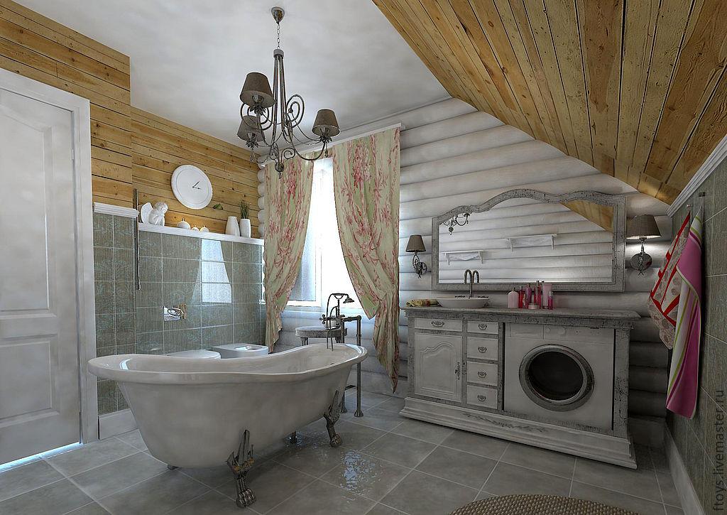 Деревянные элементы в стиле прованс
