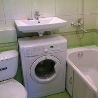 Дизайн в хрущевке ванны со стиральной машинкой, лучшие идеи