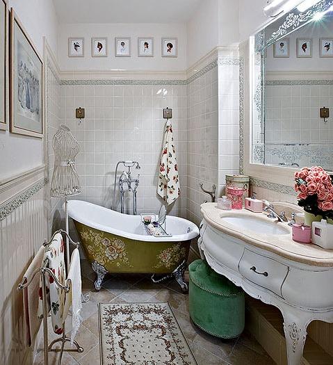 Дизайн ванной комнаты в стиле прованс - свет, изящество, уют