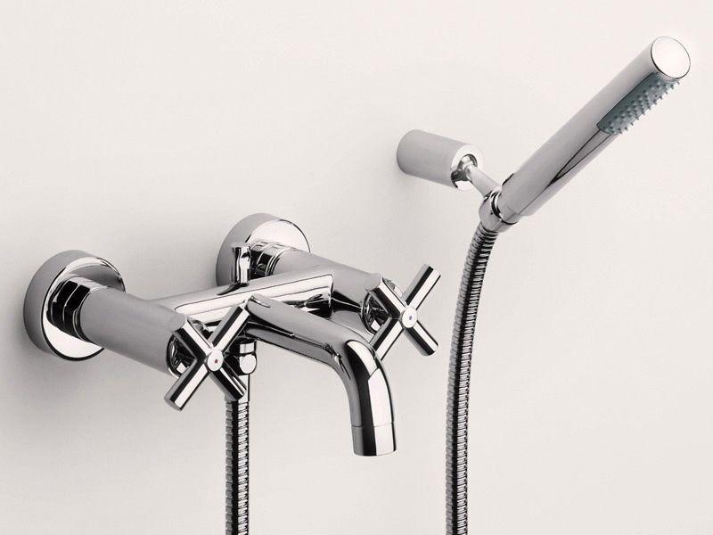 Двухвентильный смеситель для ванны с переключателем