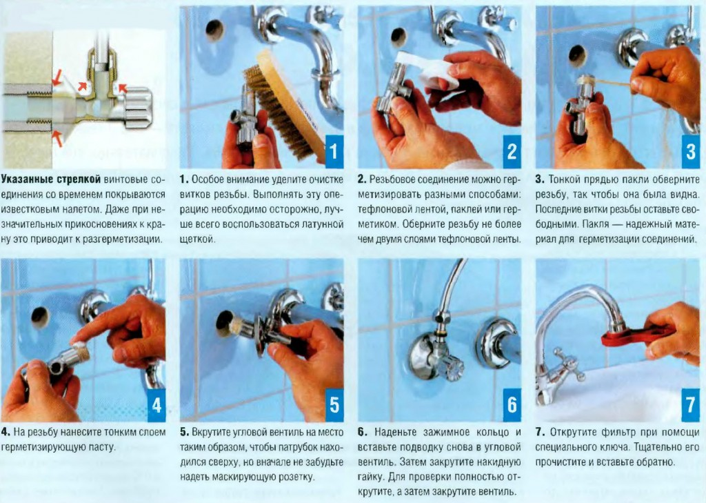 Как установить смеситель на стену