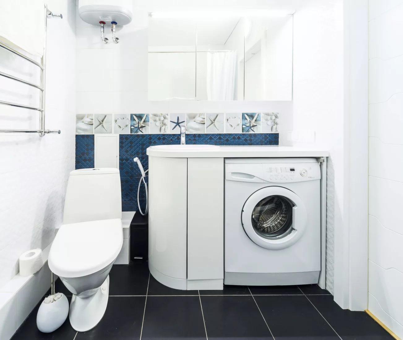 Как вписать стиральную машину в интерьер ванной
