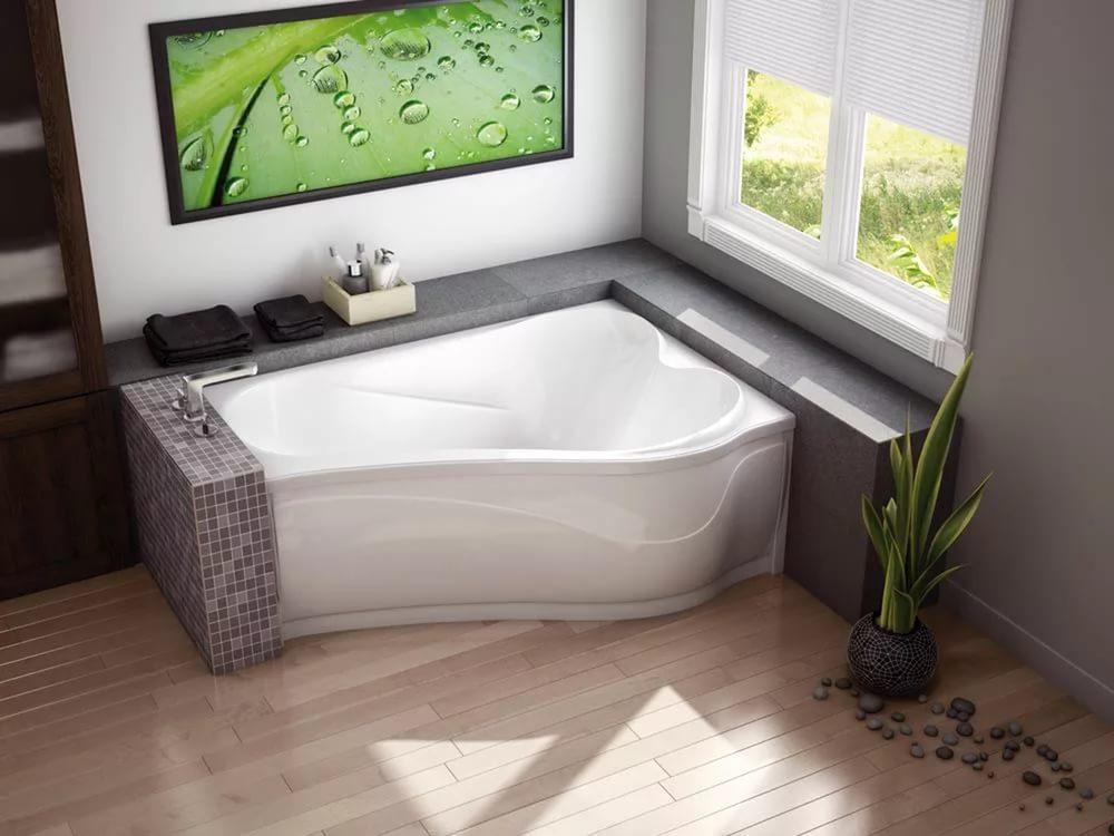 Какие ассиметричные ванны бывают