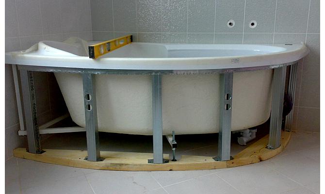 Каркас в ванную