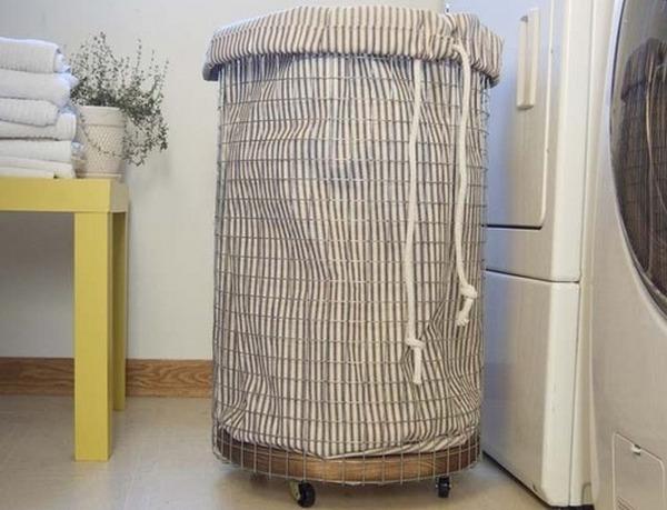 Корзина для белья в ванную (65 фото как выбрать?