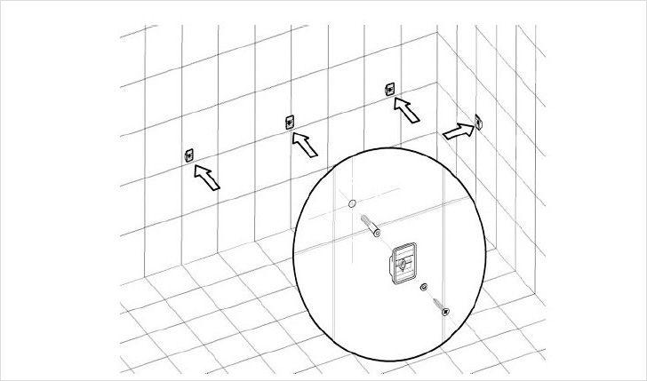 Крепление угловой ванны