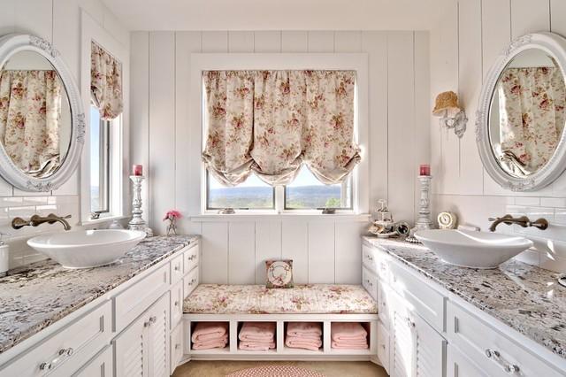 Мебель в ванной стиля прованс