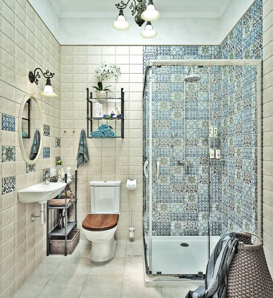 Плитка в стиле прованс в ванной