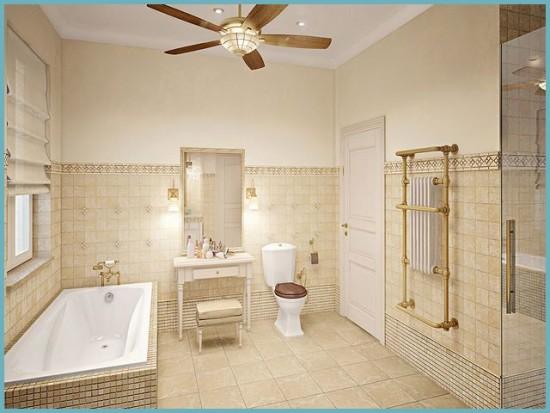 Потолок ванной в прованс стиле оставить лучше белым