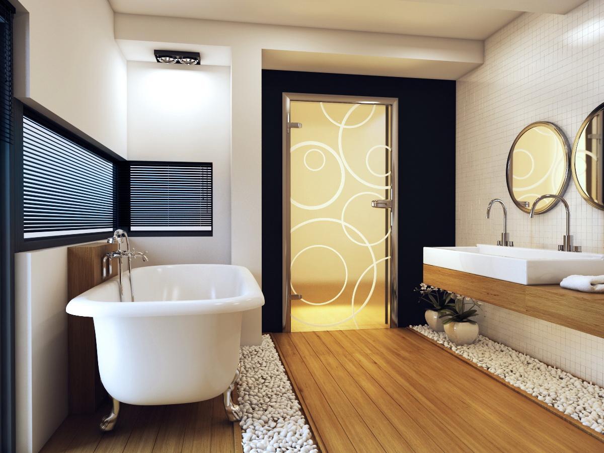 Распашные двери в ванной