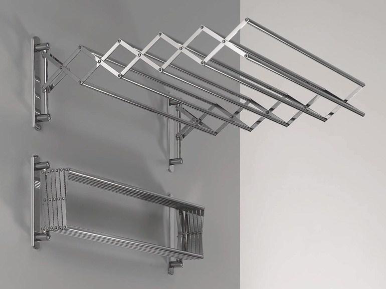 Раздвижные настенные сушилки могут размещаться и в ванной