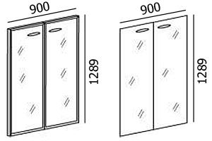 Размеры двустворчатых дверей