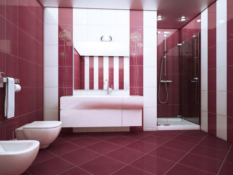 Розовая напольная плитка