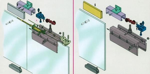 Схема установки стекла