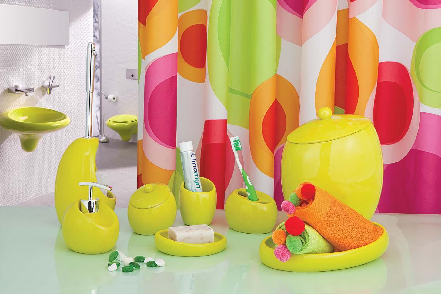 Сочные цвета для ванной
