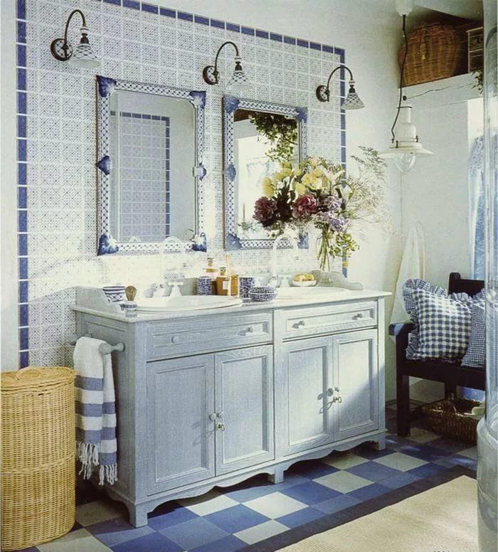 Стиль прованс в ванной - идеи для ремонта