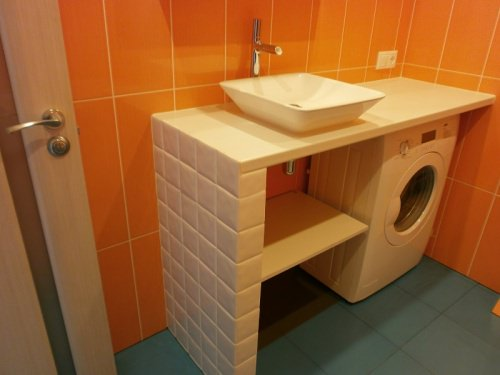 Стильная столешница в ванную