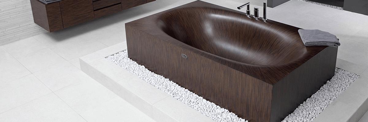 Ванна коричневой формы