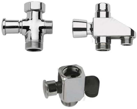 Виды автоматических переключателей ванна-душ