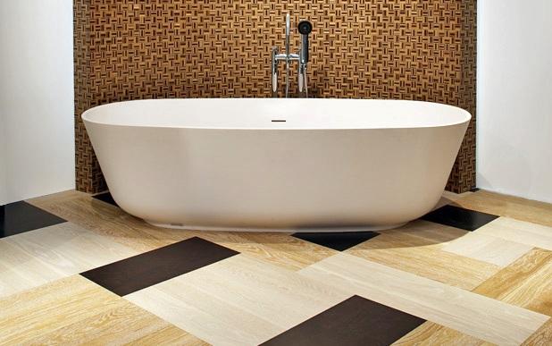 Виниловая напольная плитка для ванной