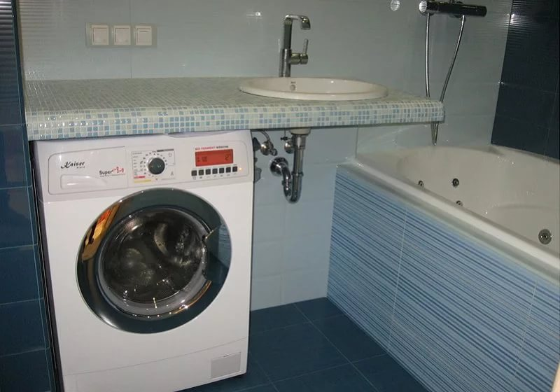 Выбираем плоский сифон для раковины на стиральную машину