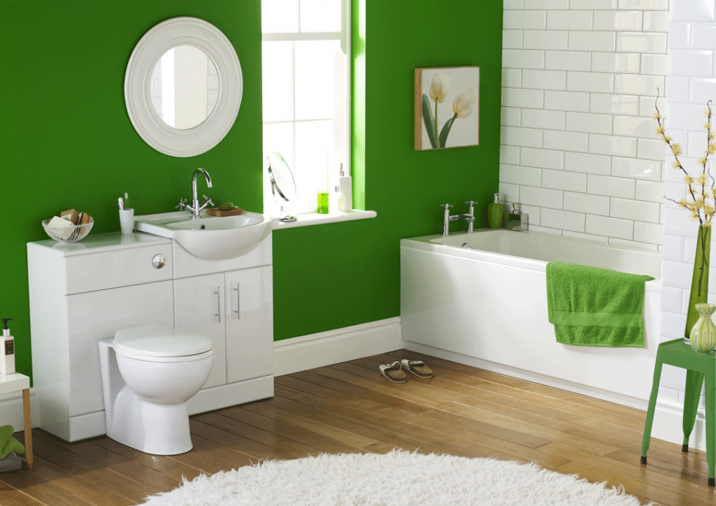 Зеленая краска для стен