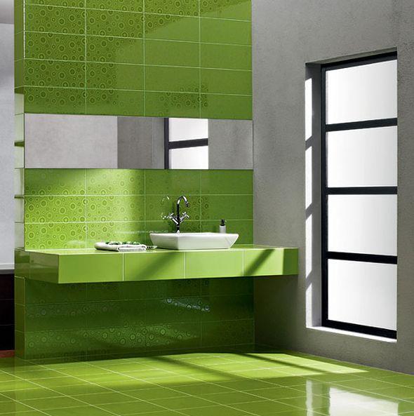 Зеленая напольная плитка