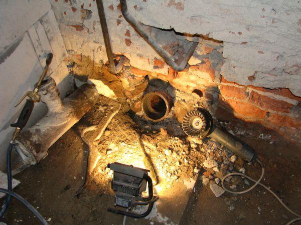 Демонтаж старого стояка