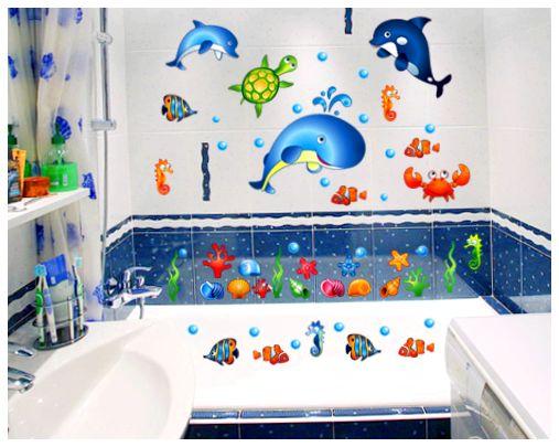 Детские наклейки в ванную