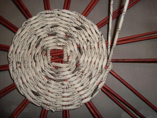 Плетение круглого дна