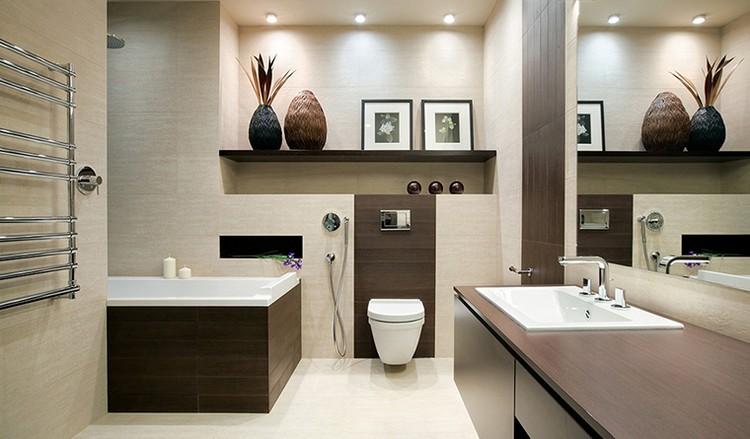 Использование ниш в интерьере ванной комнаты