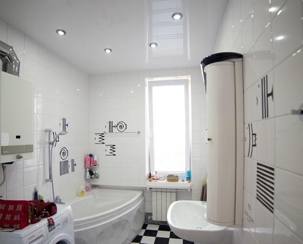 Как сделать натяжной потолок в ванной комнате