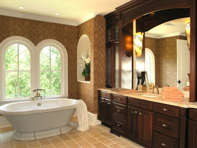 Классическое оформление ванной