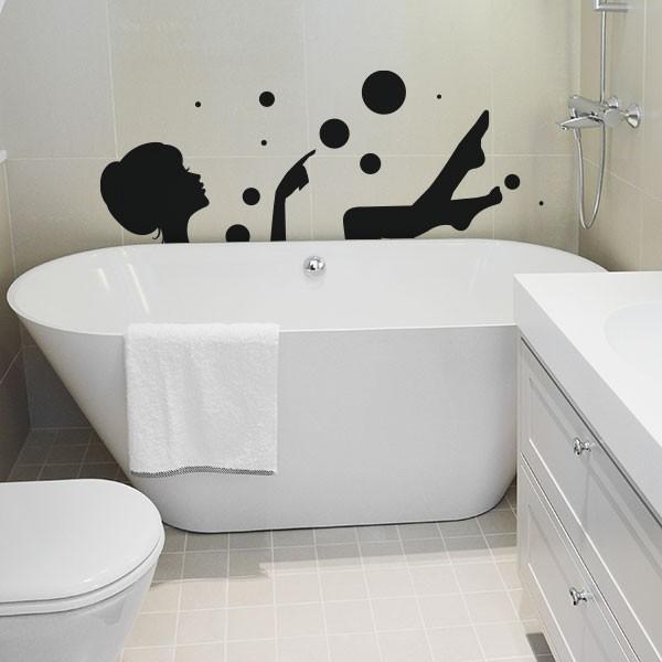 Наклейки для декора ванной комнаты