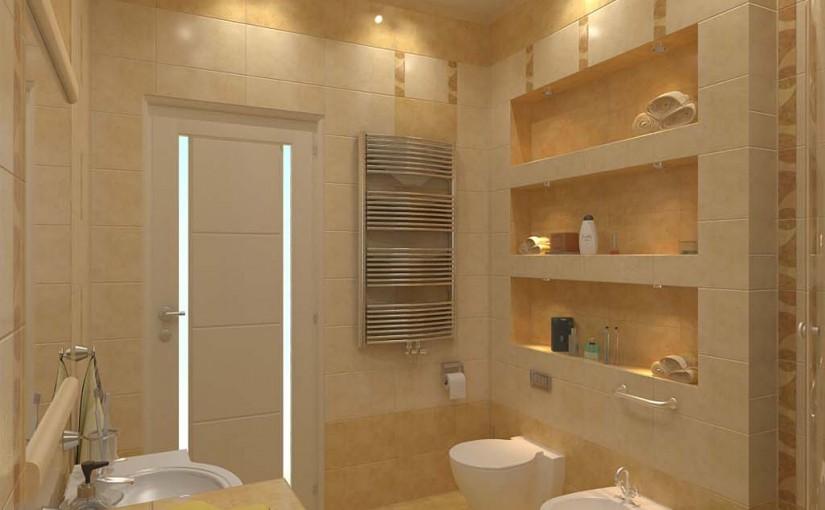 Дизайн ванной комнаты ниша в стене