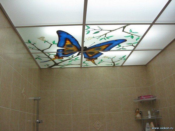 Подвесной потолок с рисунком