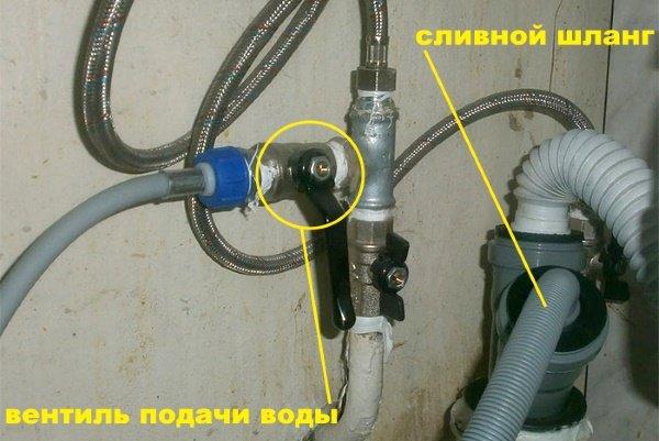 Проверьте перекрыта ли вода