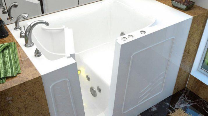 Сидячая ванна изнутри