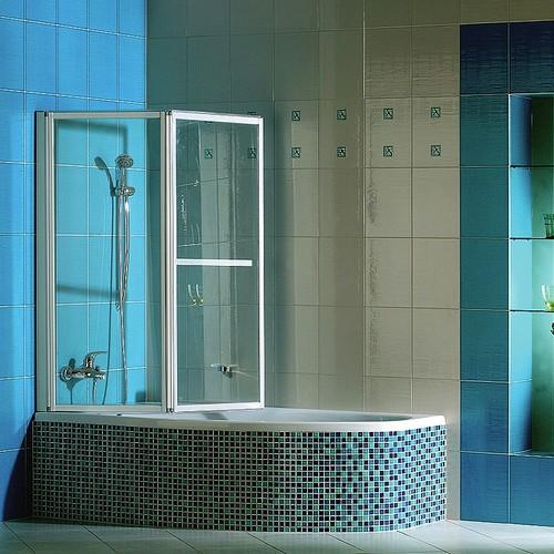 Стеклянная ширма для ванной