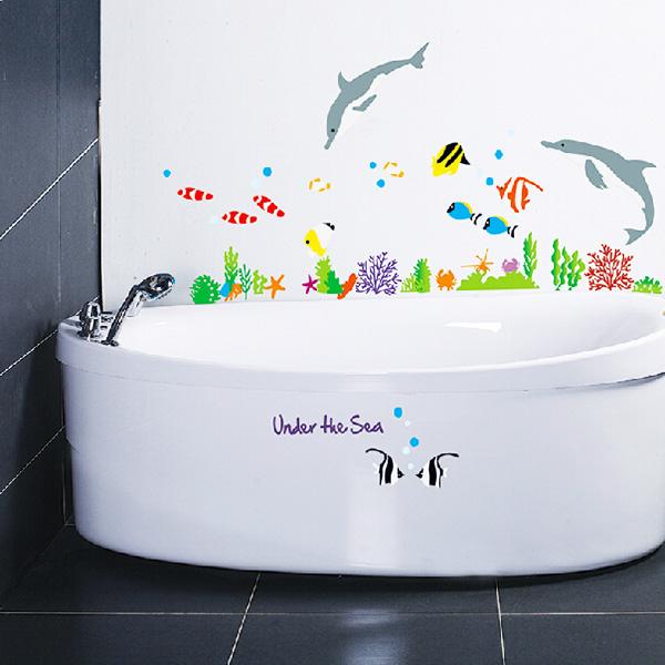 Яркий акцент в ванной