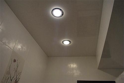 Точечные светильники скрытые в потолке