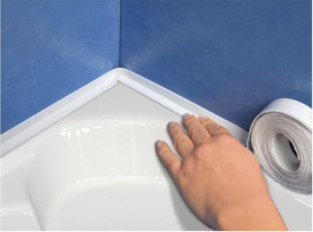 Что такое бордюрная лента для ванной