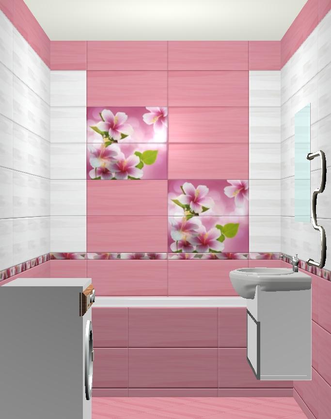 3D дизайн плитки ванной комнаты