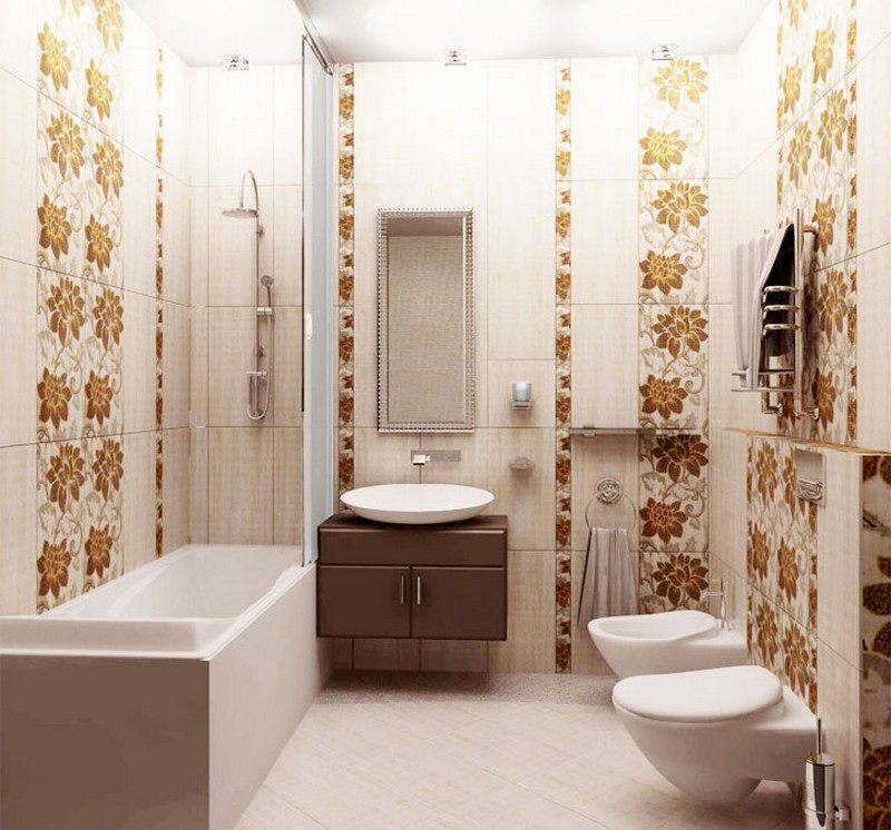 Большие варианты рисунка плитки в ванной фото