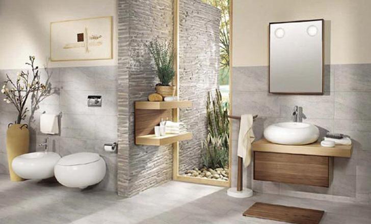 Декор ванной комнаты можно выполнить в разных стилях.
