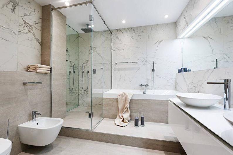 Дизайн интерьера ванной комнаты 2018